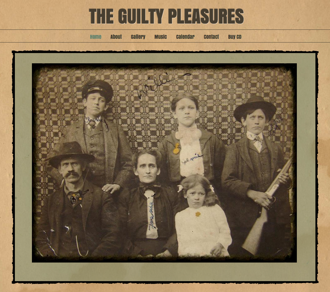 Guilty Pleasures website image